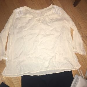 3/4 sleeve peasant blouse